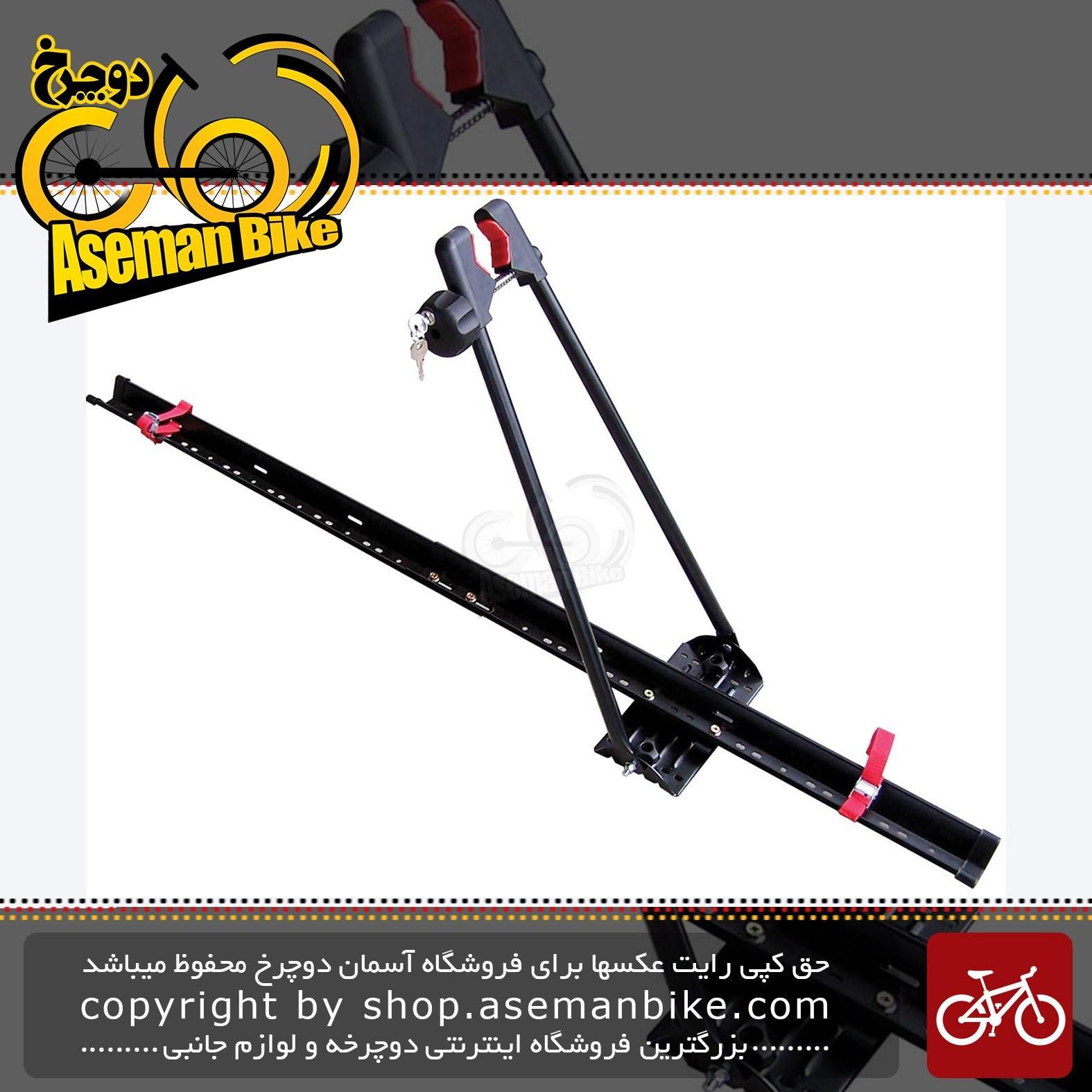 تصویر باربند سقفی حمل دوچرخه جهت حکل با ماشین برند ترکام مدل 6410 ساخت تایوان Tercom Upright Roof Mount Bike Rack 6410 Made In Taiwan