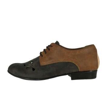 کفش زنانه پاریس جامه کد B495 رنگ قهوه ای  
