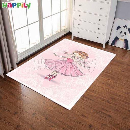 تصویر فرش اتاق کودک طرح دختر 52368