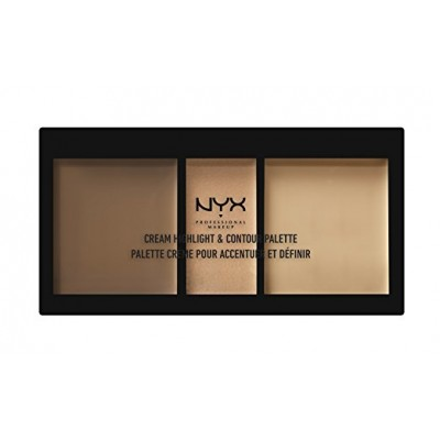 پالت کانتور و هایلایت نیکس NYX Cosmetics Cream Highlight & Contour Palette Medium