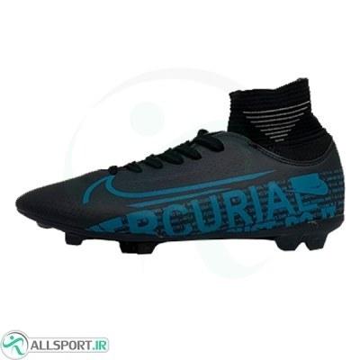 کفش فوتبال نایک مرکوریال ساقدار طرح اصلی مشکی آبی Nike Mercurial 2019