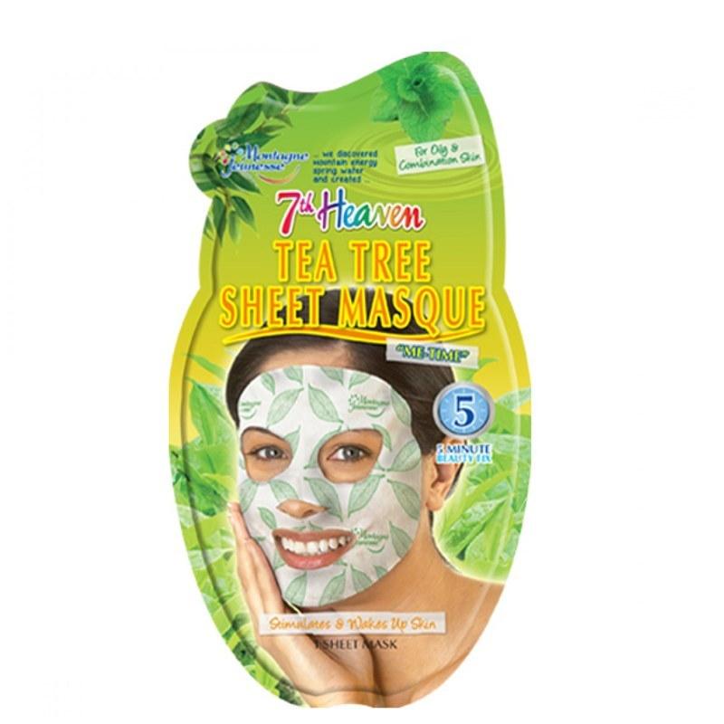 ماسک صورت نقابی مونته ژنه مدل 7th Heaven حاوی عصاره درخت چای