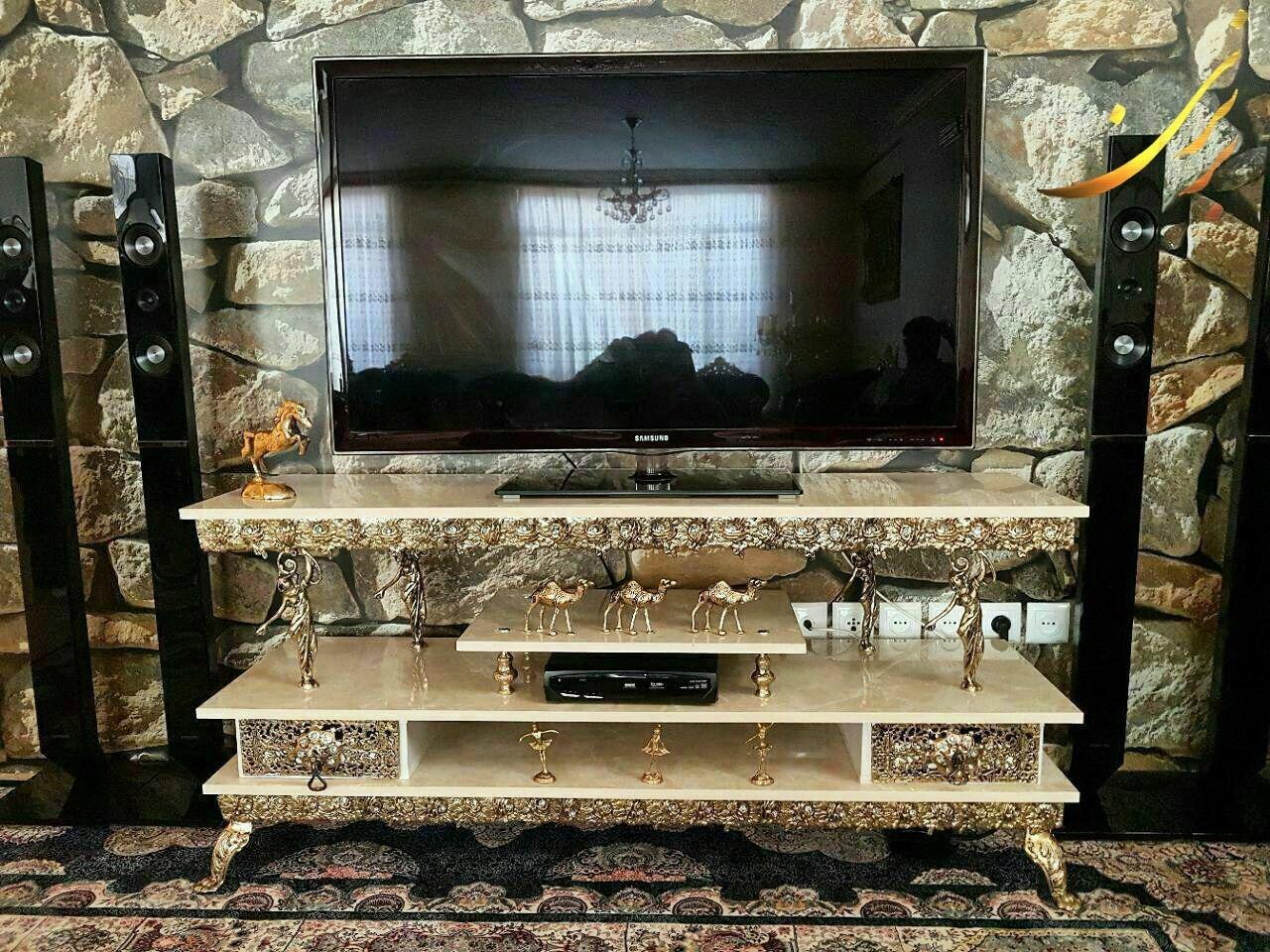 تصویر میز تلویزیون برنزی طرح جدید ۴