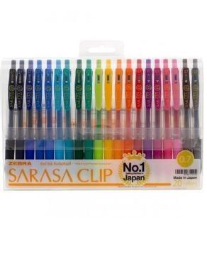 روان نويس 20 رنگ زبرا مدل Sarasa Clip