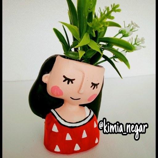 عکس گلدان فانتزی طر دختر  گلدان-فانتزی-طر-دختر