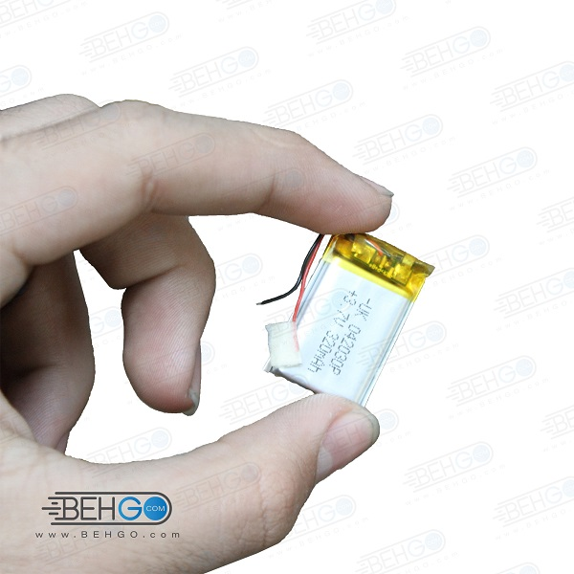 تصویر باتری هدفون بلوتوث لیتیومی تک سل 3.7V 320mAh دارای برد محافظ کیفیت بالا 042030p 3.7v 320mah high quality battery