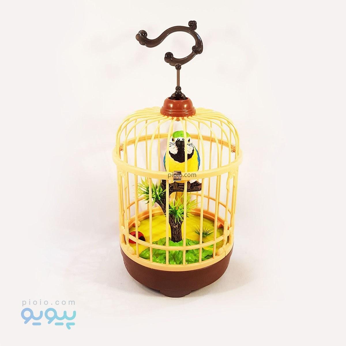 مرغ عشق در قفس تزیینی |