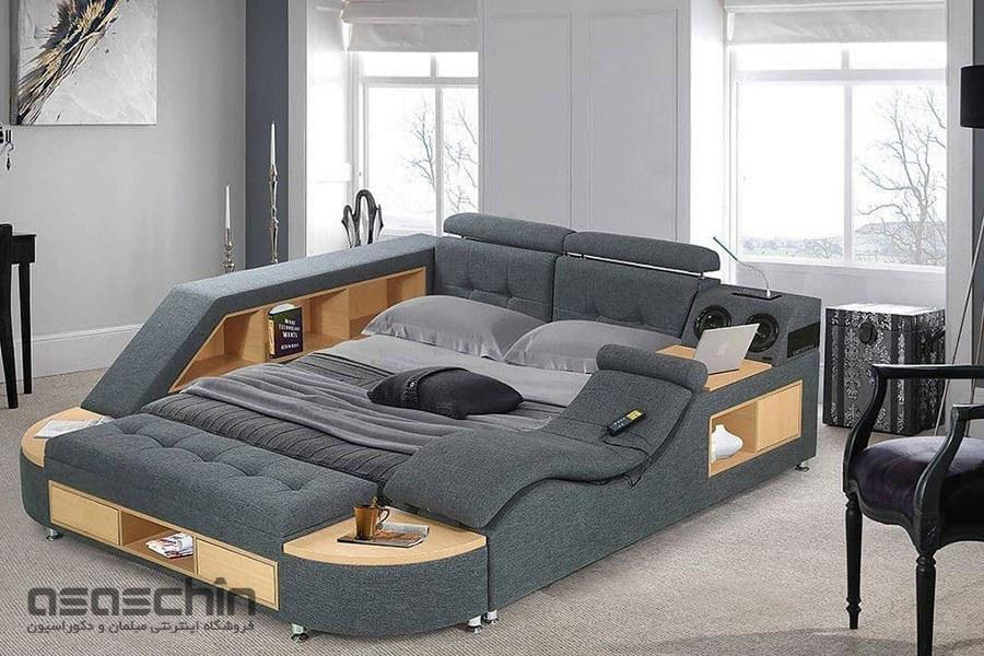 تصویر تخت خواب هوشمند دو نفره پارما