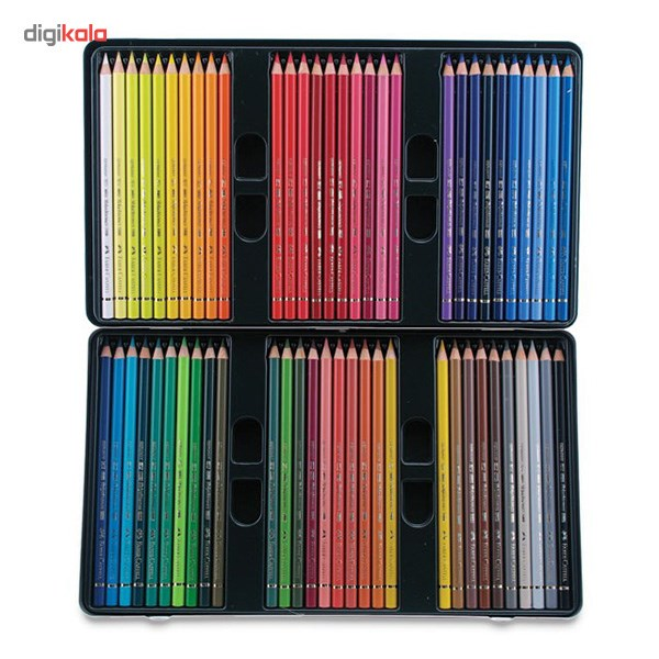 تصویر مداد رنگی 60 رنگ فابر-کاستل مدل Polychromos Faber-Castell Polychromos 60 Color Pencil