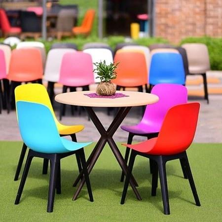 تصویر میز و صندلی طرح رنگین کمان کد۳۸