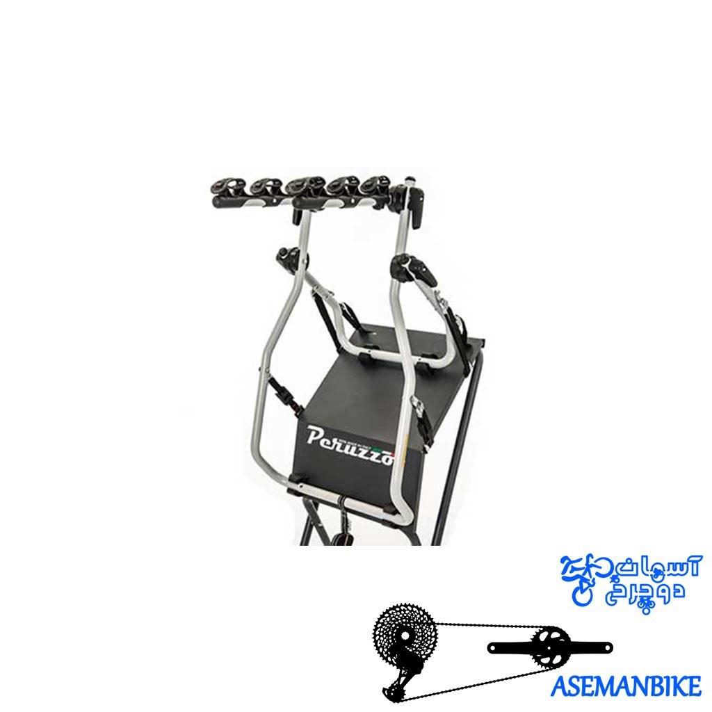 تصویر باربند صندوقی دوچرخه برند پروزو آلومینیومی ساخت ایتالیا جهت حمل 3 دوچرخه Bike carrier on luggage door PERUZZO VENEZIA (3 bikes)
