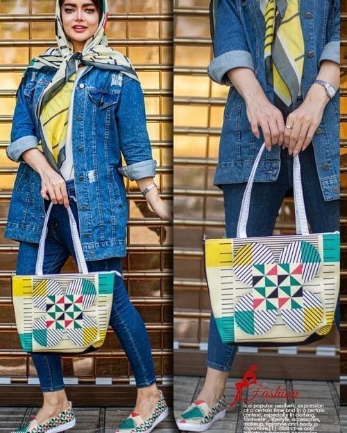 تصویر ست سه تیکه کیف کفش روسریdk0029