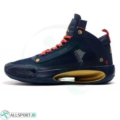 کفش بسکتبال مردانه ایر جردن Air Jordan 34 Blue-Gold