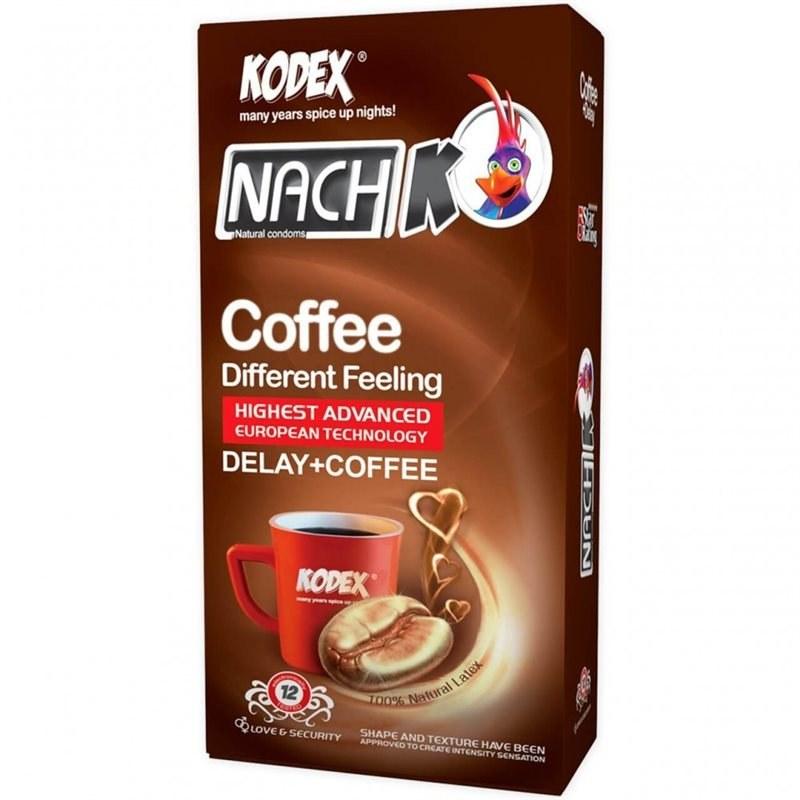 main images کاندوم 12 عددی تاخیری مدل کافیناچ کدکس Nach Kodex Coffee Delay Condom 12pcs
