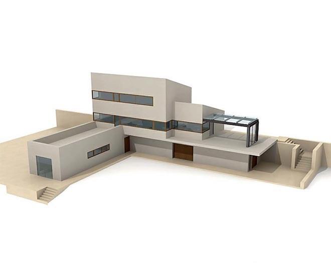 تصویر مدل کامل سه بعدی خانه ۰۱۵