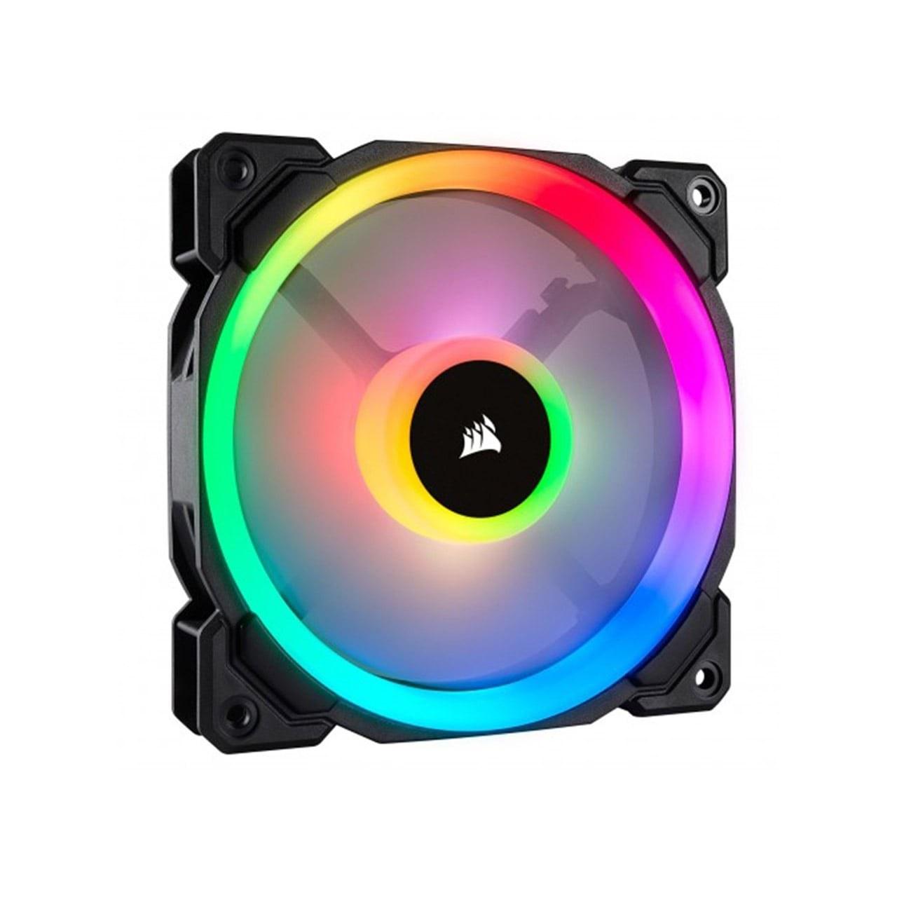 تصویر فن کیس Corsair مدل iCUE QL120 RGB Triple Fan
