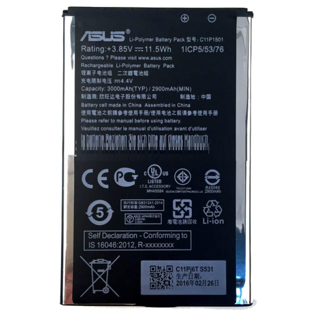 تصویر باتری ایسوس Asus Zenfone 2 Laser ZE601KL مدل C11P1501 battery Asus Zenfone 2 Laser ZE601KL model C11P1501