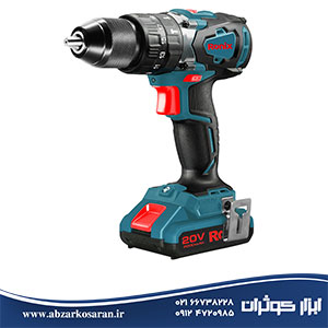 تصویر کیت دریل شارژی 20 ولت موتور براش لس Ronix مدل 8905k Rechargeable drill kit 20 volts motor brush Ronix model 8905k