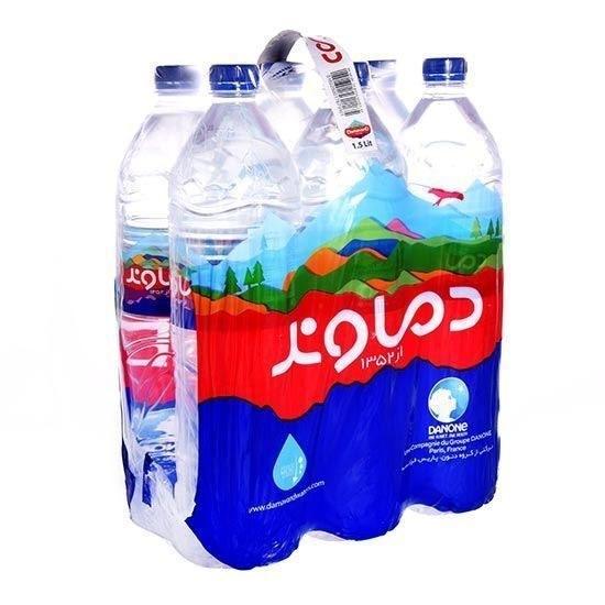 تصویر آب معدنی1.5 لیتر خانواده دماوند- 6 عددی