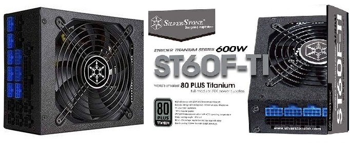 main images منبع تغذیه کامپیوتر سیلوراستون مدل Strider Titanium SST-ST60F-TI پاور سیلور استون Strider Titanium SST-ST60F-TI 600W Power Supply
