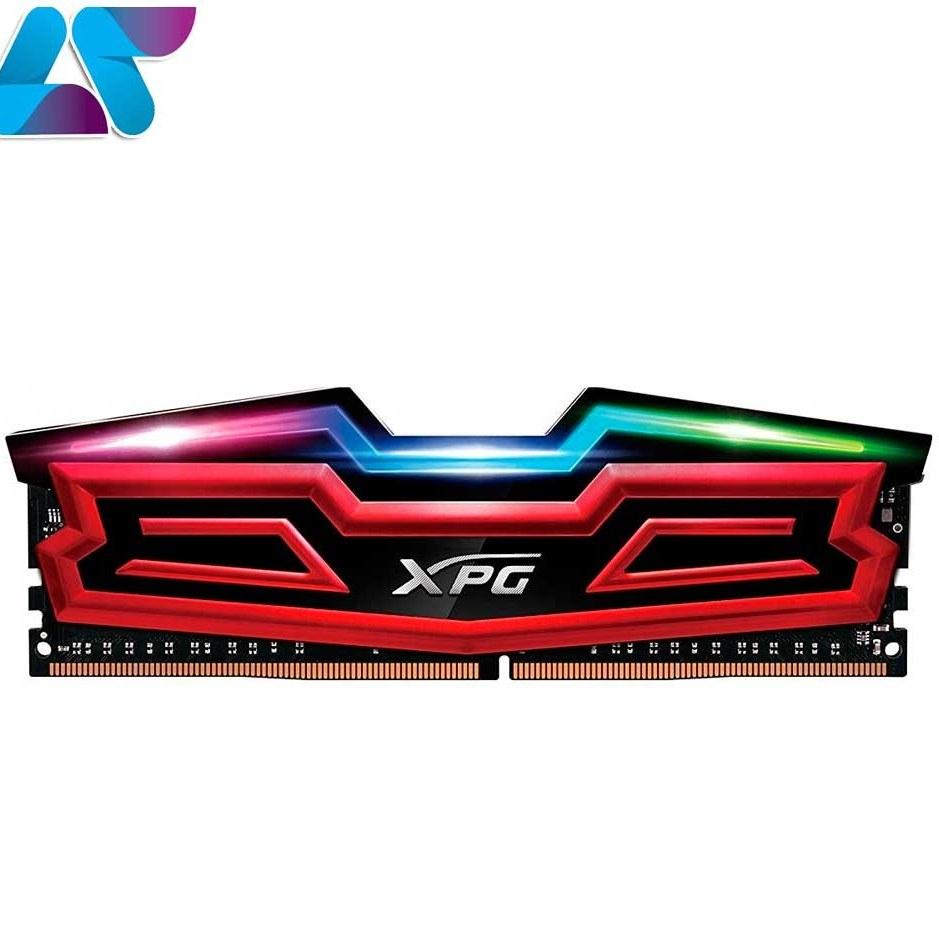حافظهی رم اورکلاک DDR4 ای دیتا تک کاناله 2400 مگاهرتز CL16 مدل Spectrix D40 ظرفیت 8 گیگابایت | ADATA XPG SPECTRIX D40 DDR4 2400MHz CL16 Single Channel Desktop RAM - 8GB