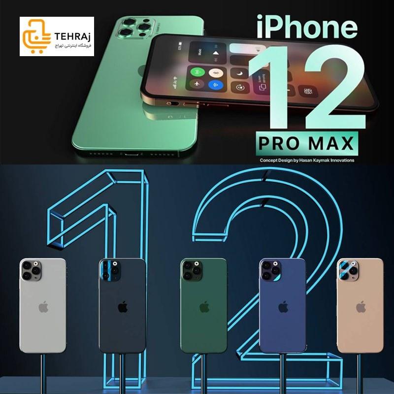 main images گوشی موبایل لمسی ایفون دوازده پرو مکس iphone 12 pro max طرح اصلی iphone 12 pro max dual sim high copy 16GB 2020 new