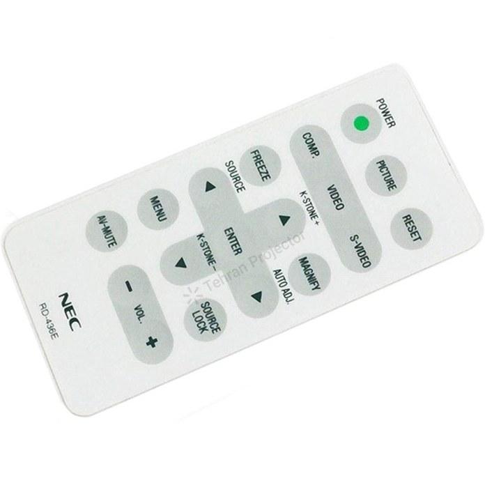 تصویر ریموت کنترل پروژکتور ان ای سی کد 2 – NEC projector remote control