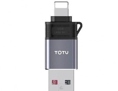 تصویر رم ریدر او تی جی لایتنینگ توتو Totu FGCR-006 Lightning OTG External TF Flash Card