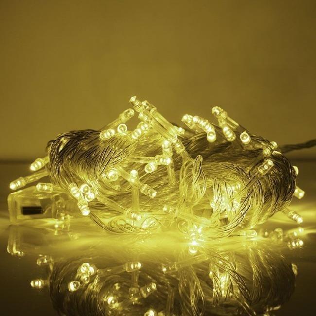 تصویر ریسه 5 متری سوزنی با 50 چراغ نور آفتابی