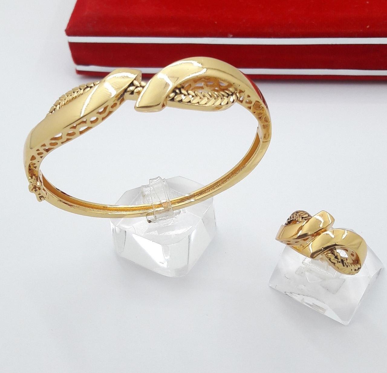 ست دستبند و انگشتر طرح طلا