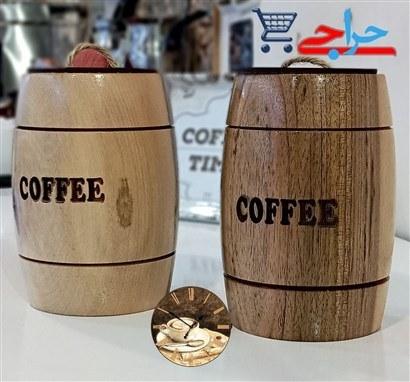 تصویر بانکه قهوه چوبی دست ساز