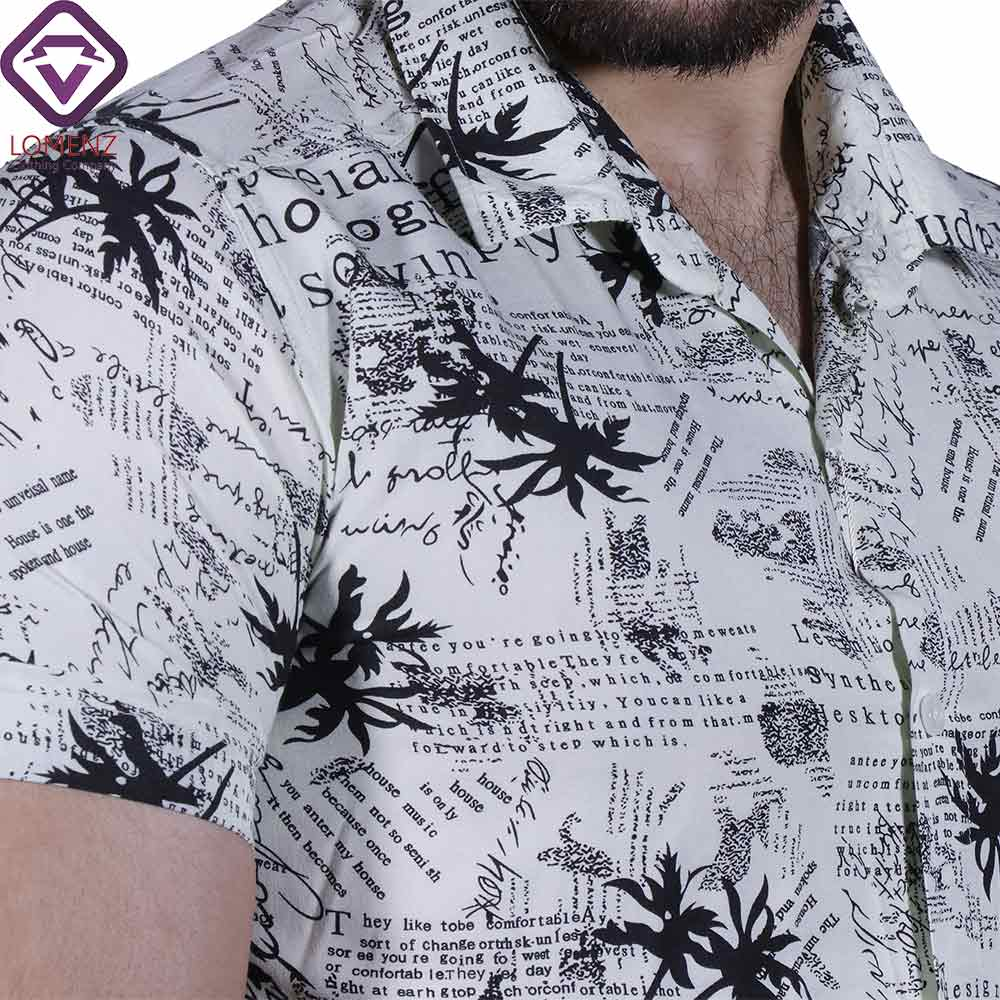 تصویر پیراهن آستین کوتاه هاوایی ZARA کد 005