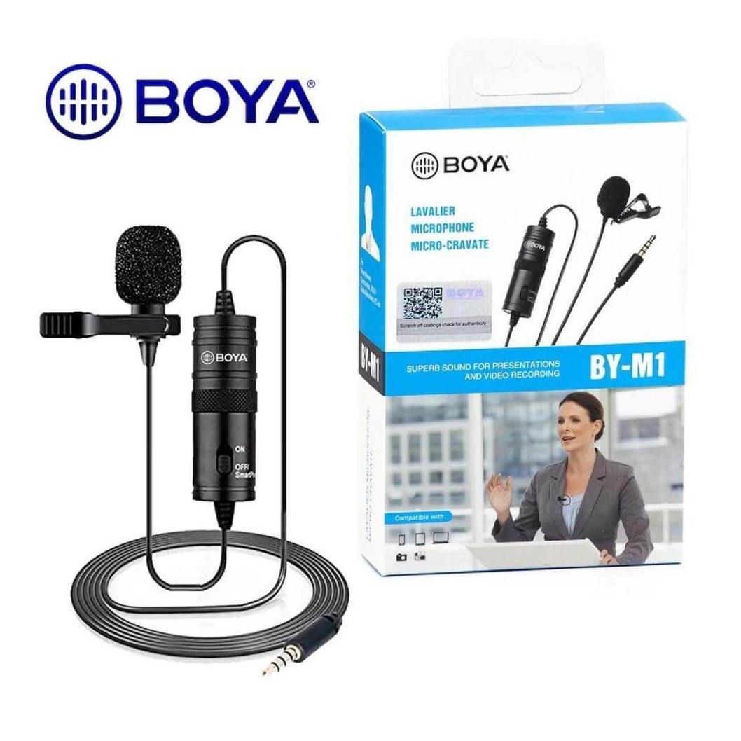 تصویر میکروفون بویا مدل BOYA BY-M1 BOYA BY-M1 MICROPHONE