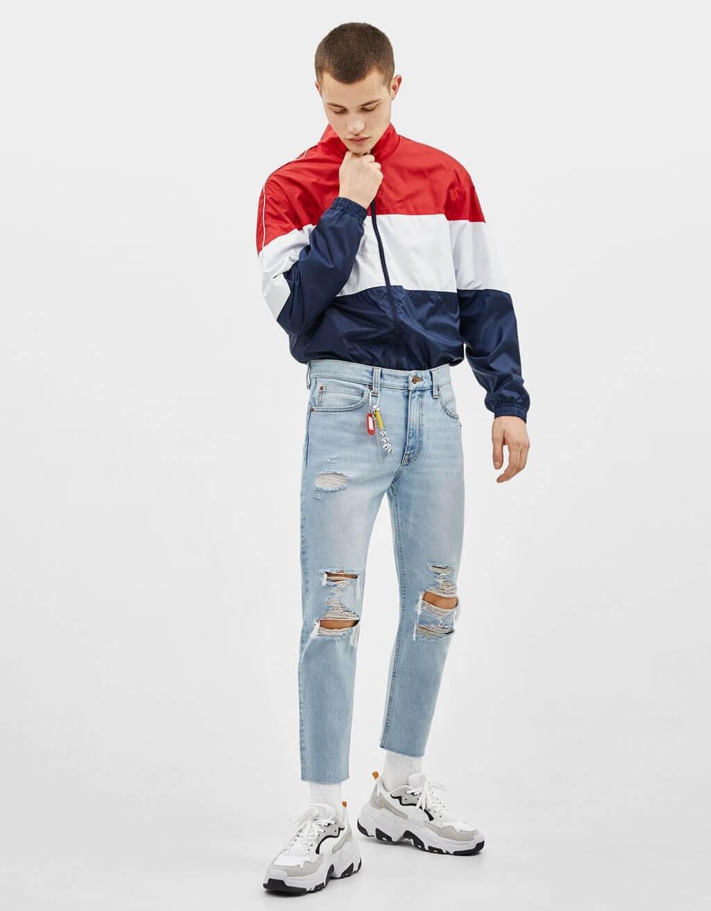 عکس شلوار جین مردانه برشکا اسپانیا Cropped-Jeans im Slim-Fit  شلوار-جین-مردانه-برشکا-اسپانیا-cropped-jeans-im-slim-fit