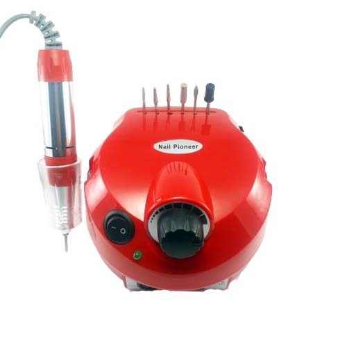تصویر سوهان برقی نیل پایونیر مدل DM-202 رنگ قرمز