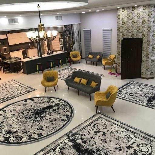 فرش ماشینی وینتیج مدل فرانسوی