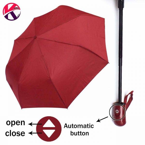 تصویر چتر اتومات رنگی ساده