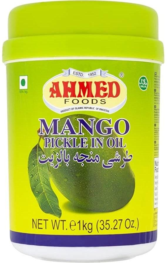 تصویر ترشی انبه روغنی پاکستانی احمد AHMAD اچار آم وزن 1 کيلويی