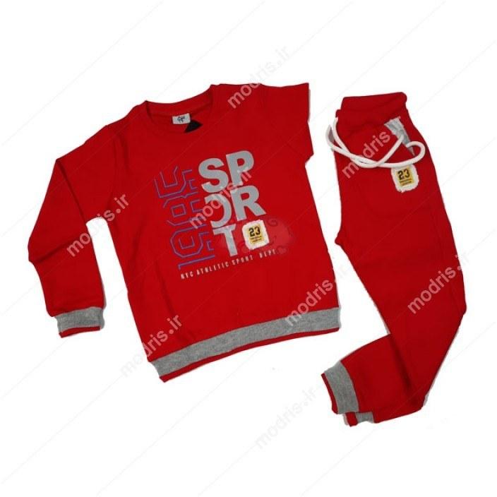 تصویر ست بلوز شلوار پسرانه مدل SPORT رنگ قرمز Sport  Pants blouse set