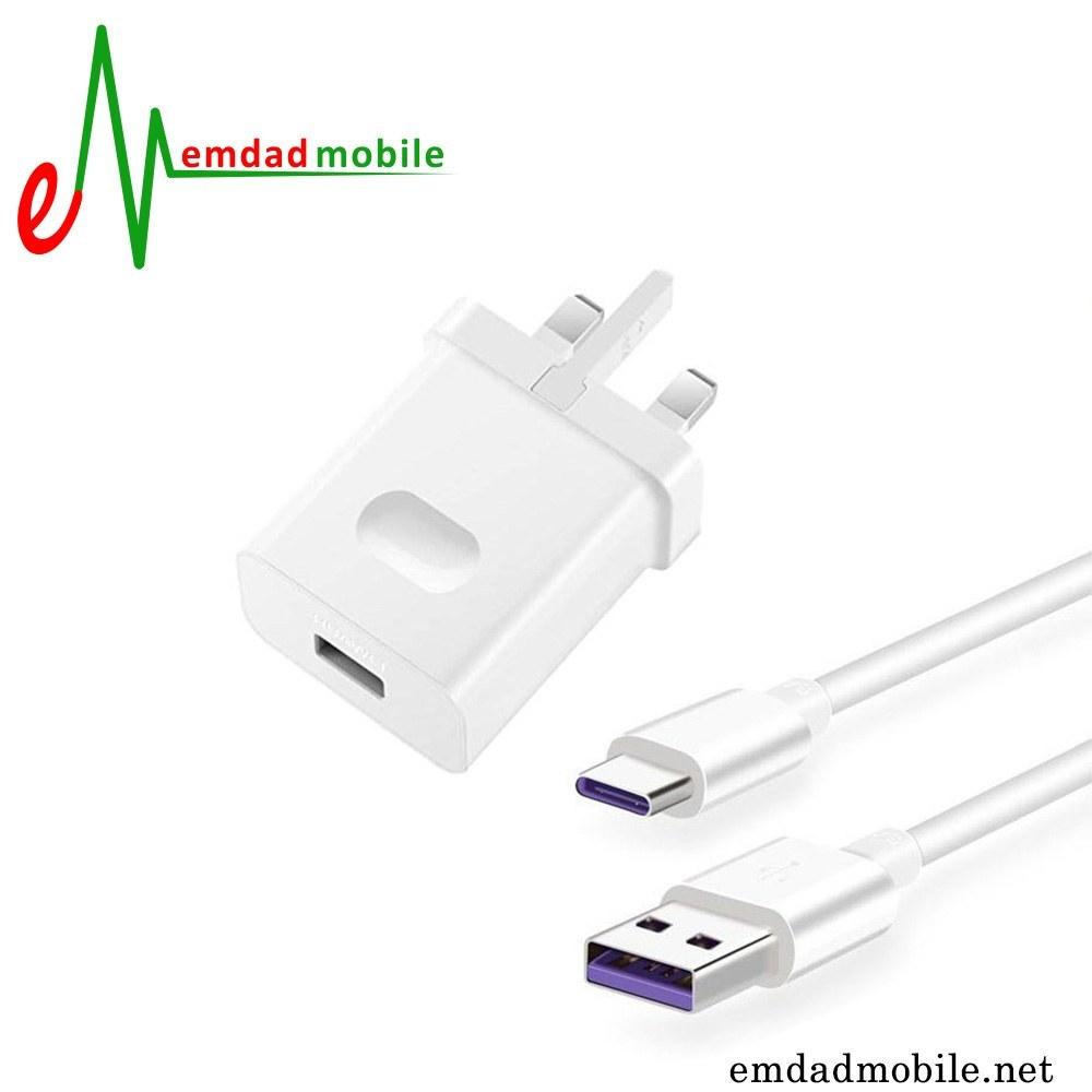 main images شارژر، کابل شارژ و آداپتور فست شارژ تایپ سی اصلی گوشی هواوی Honor 20 Lite (china)