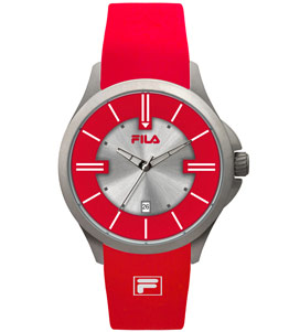 ساعت مچی آنالوگ فیلا مدل FILA Red Rubber Strap