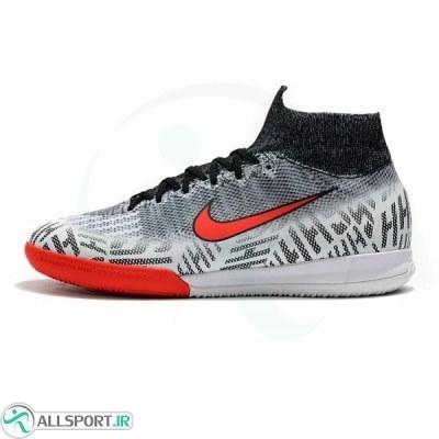 کفش فوتسال نایک مرکوریال طرح اصلی خاکستری Nike Mercurial SuperflyX VI 360 Elite Neymar IC White Challenge Red Black