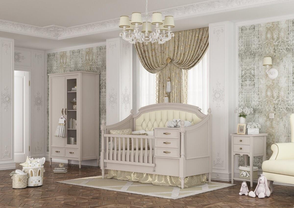 تصویر سرویس خواب نوزاد به نوجوان مدل کلاسیکولد