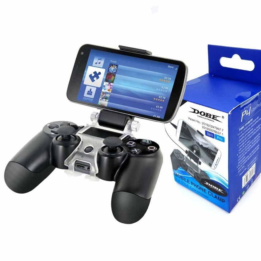 تصویر نگه دارنده گوشی و دسته بازی Dobe Phone Clamp