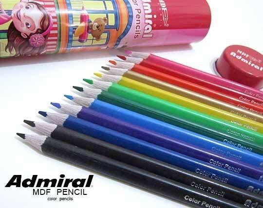مداد رنگی 12 عددی Admiral