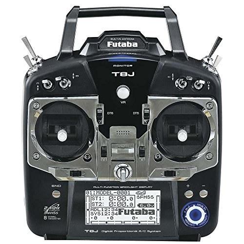 رادیو کنترل هشت کاناله مدل 8JA با مدولاسیون S-FHSS ، فرستنده Mode2 و گیرنده R2008SB محصول Futaba.
