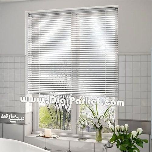 تصویر پرده کرکره فلزی سفید ساده ۲۵ میلیمتری P1
