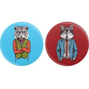 پیکسل ویان طرح Fashion tiger & wolf مجموعه 2 عددی |