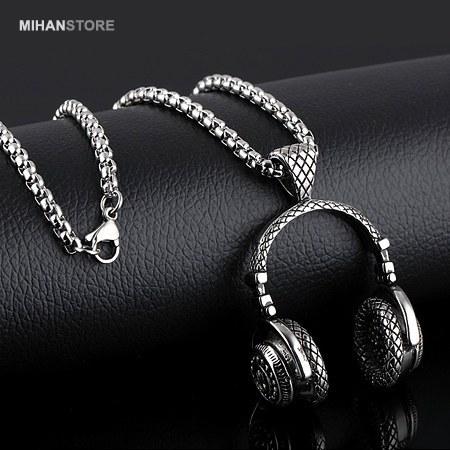 گردنبند لاکچری طرح هدفون   Luxurious HeadPhone Shaped Necklaces