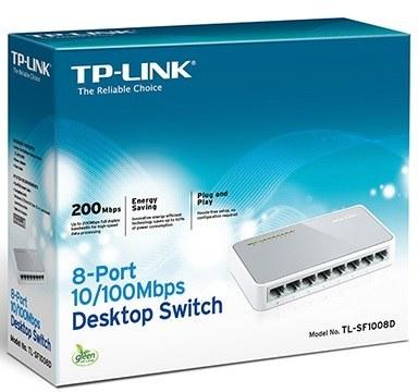تصویر سوئیچ تی پی لینک TL-SF1008D Switch TP-Link TP-Link 8-Port 10/100Mbps Desktop Switch TL-SF1008